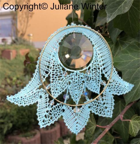Blume mit Sonnenkristall (Variante 3) /Flower with sun crystal (variation 3)