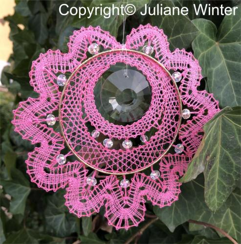 Blume mit Sonnenkristall (Variante 1) /Flower with sun crystal (variation 1)