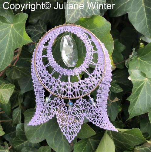 Blume mit Sonnenkristall (Variante 4) /Flower with sun crystal (variation 4)
